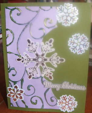 lavendar and green christmas card 1