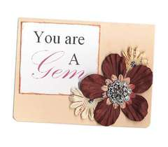 You are a Gem - using Bazzill Jewel Bling Buttons