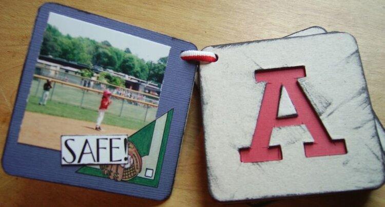 Mini Baseball Letter Album Inside
