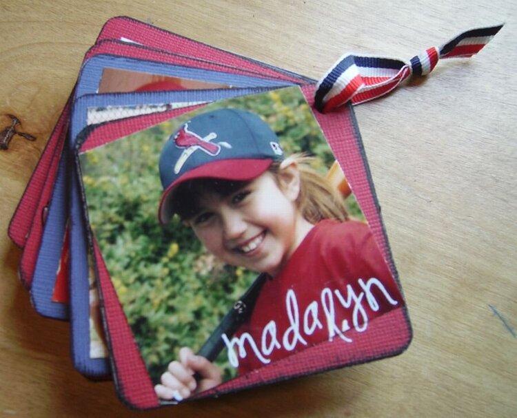 Mini Letter Baseball Album Last Page
