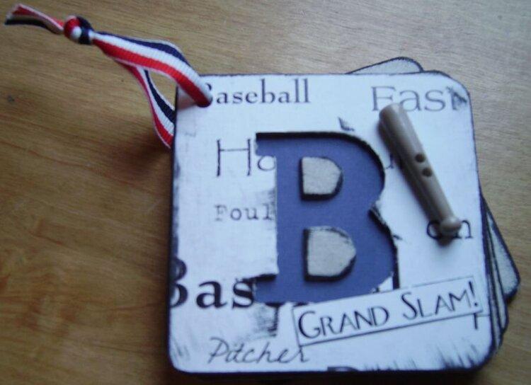 Mini Letter Baseball Album