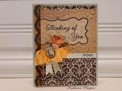 Sitting and Thinking of You card