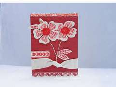 monochromatic hello flower card