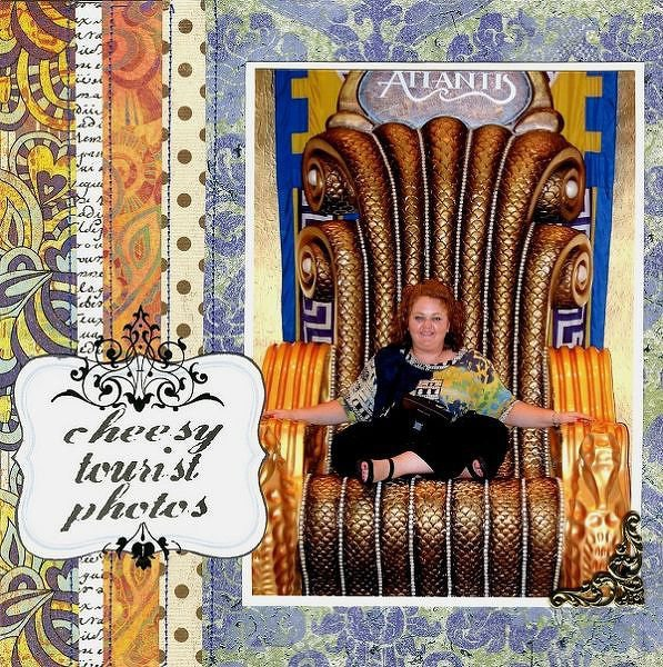CTP (Cheesy Tourist Photos) - Patterned Paper Challenge #4
