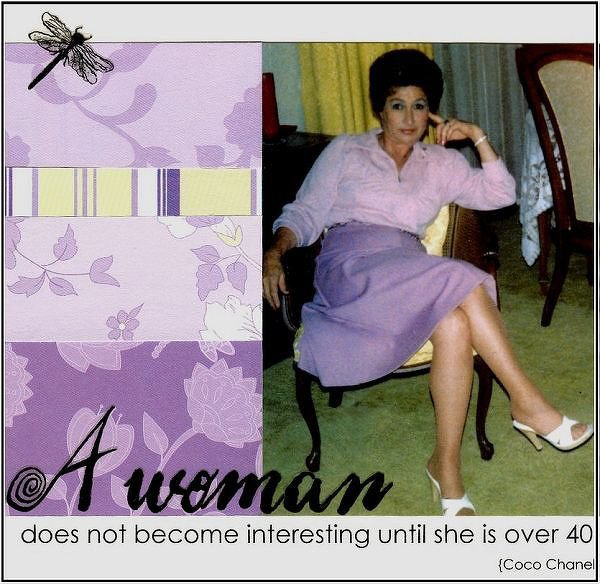 A Woman... {Ali's Patterned Paper Challenge}