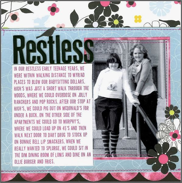 Restless {Sketch This! & Patterned Paper Challenge}