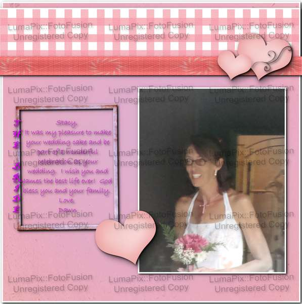 stacy's wedding page