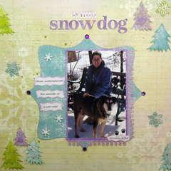 My little snow dog