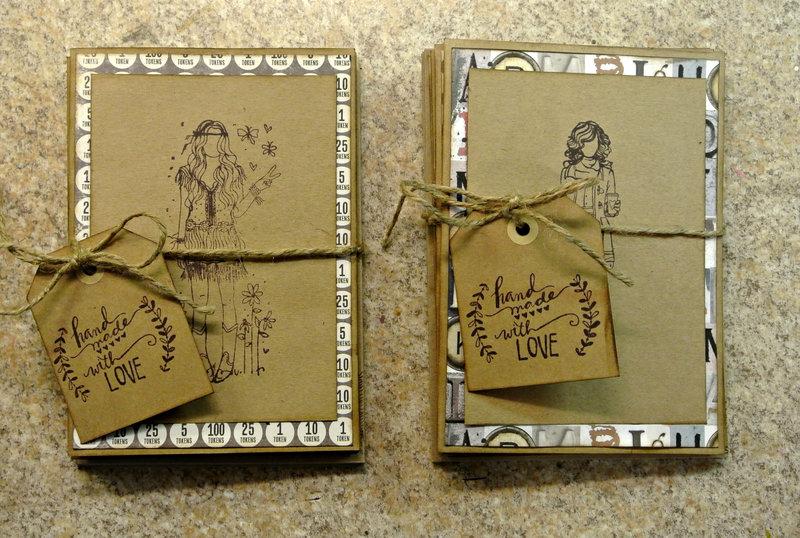 Homemade notecards & envelopes