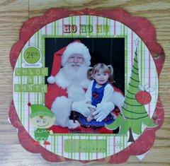 Chloe and Santa