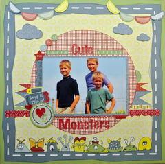 Three Cute Little Monsters