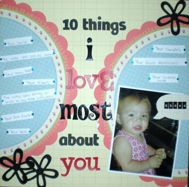10 Things I love most about you