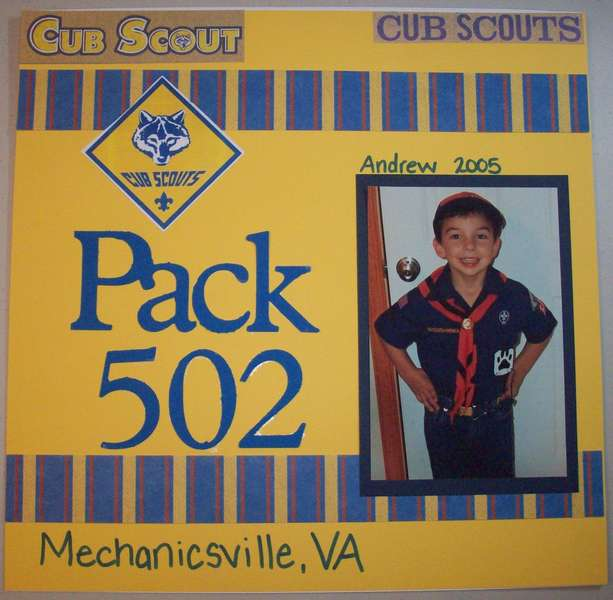 Cub Scout Cover Page