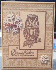 2014 Monochromatic Owl Card