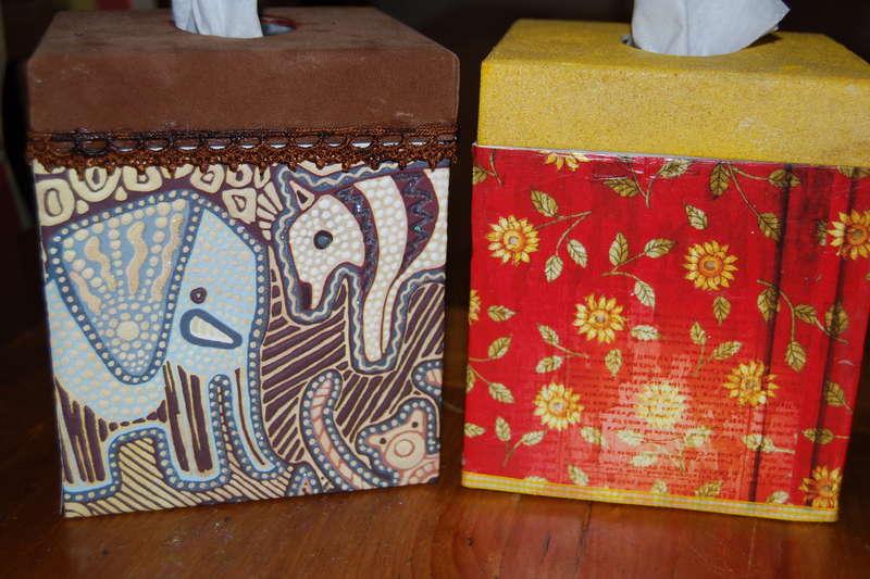 Decorated Kleenex Boxes