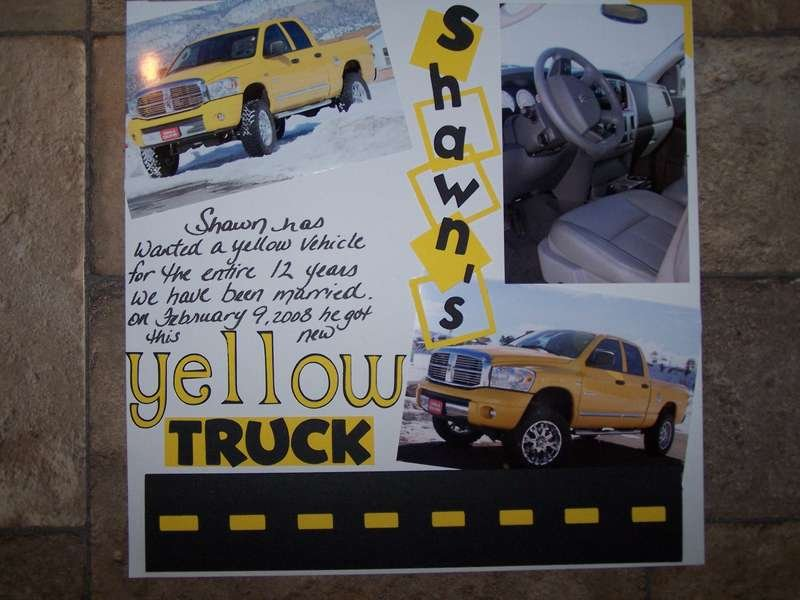 Shawn's yellow truck