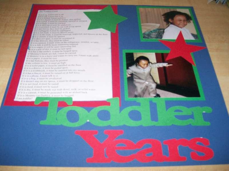 Toddler Years