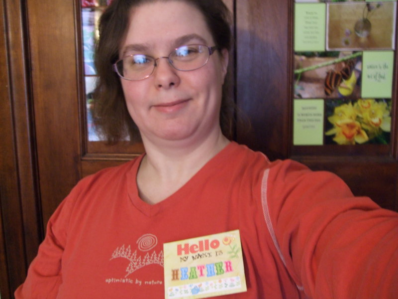 selfie with a name tag!