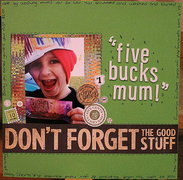 5 bucks mum!!