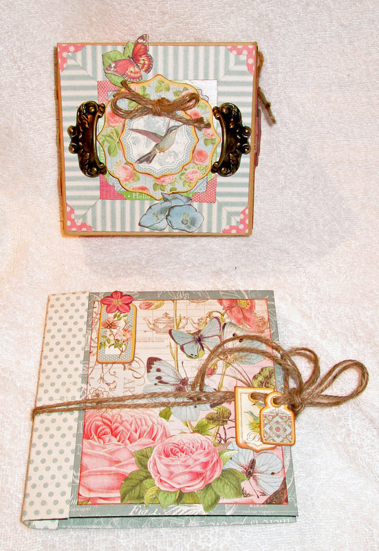 Graphic 45 Botanical Tea Decorative Box with Easel Card Set and Side Waterfall Album
