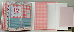 Baby's First Year Album first birthday accordion folder