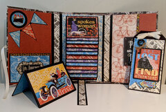 """Graphic 45 """"Life's a Journey"""" travel folio - inside with all ephemera removed"""
