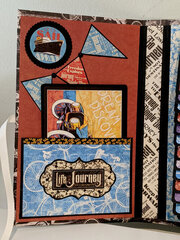 "Graphic 45 ""Life's a Journey"" travel folio - inside left"