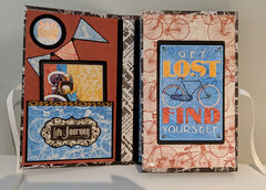"""Graphic 45 """"Life's a Journey"""" travel folio - Inside left with inside right closed"""