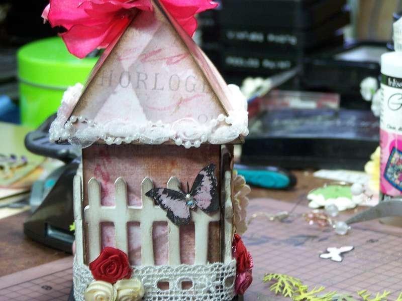 Back of birdie house!