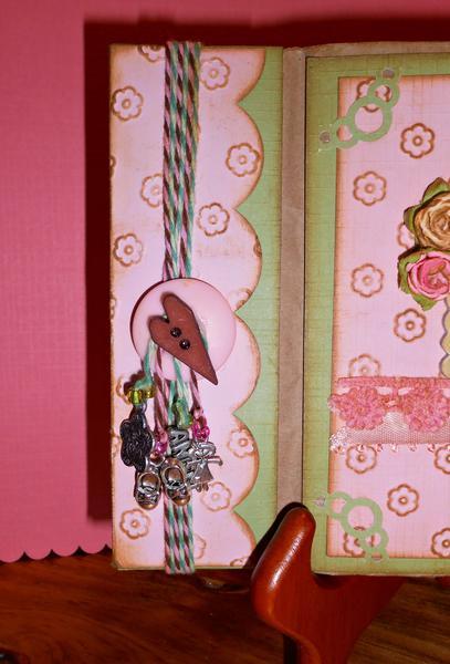 "Binding of the ""Baby Girl"" paper bag mini album."
