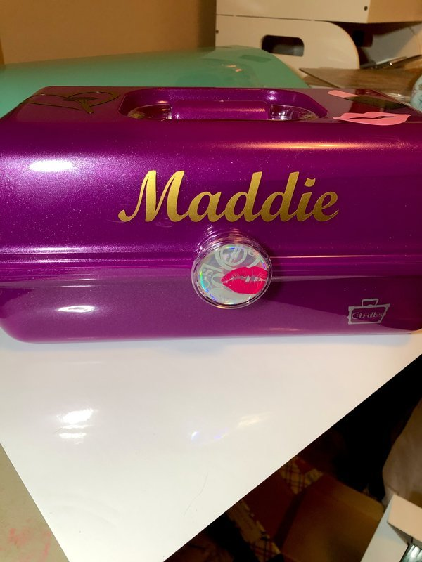 Maddie's personalized Caboodle