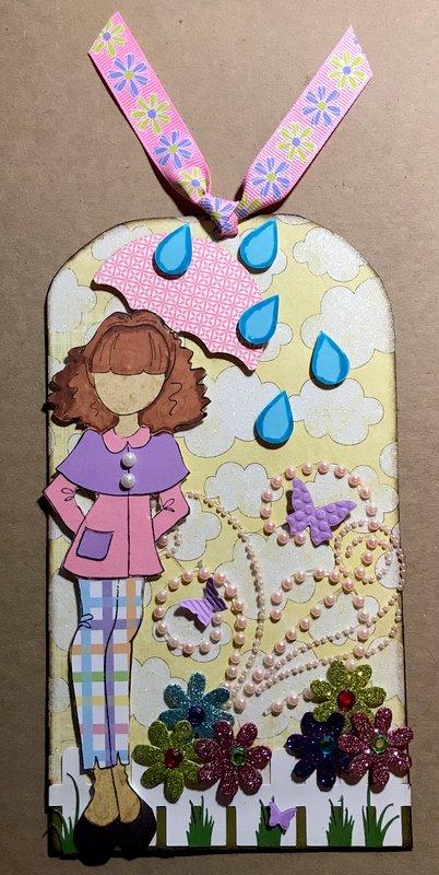 Julie Nutting April Showers tag