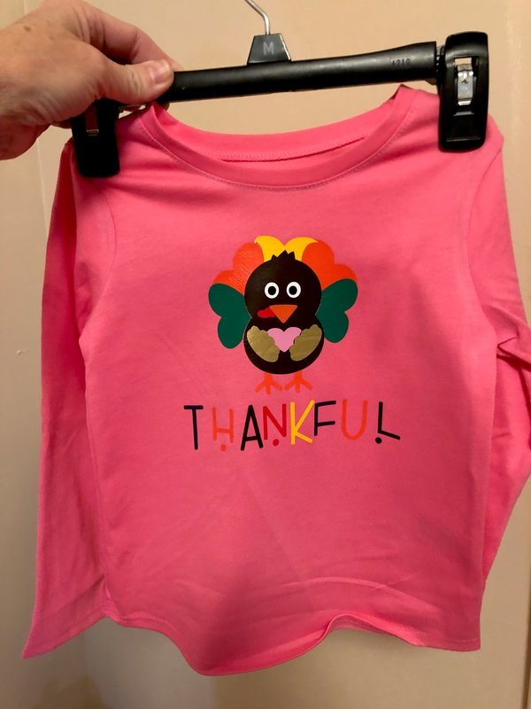 THANKFUL turkey shirt for Zoey