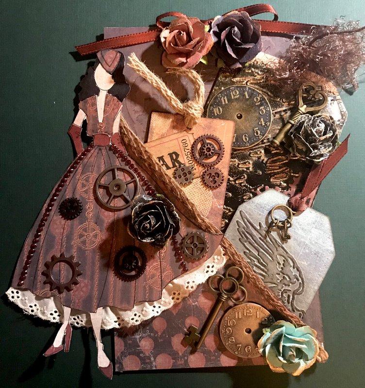 Steampunk loaded  tag