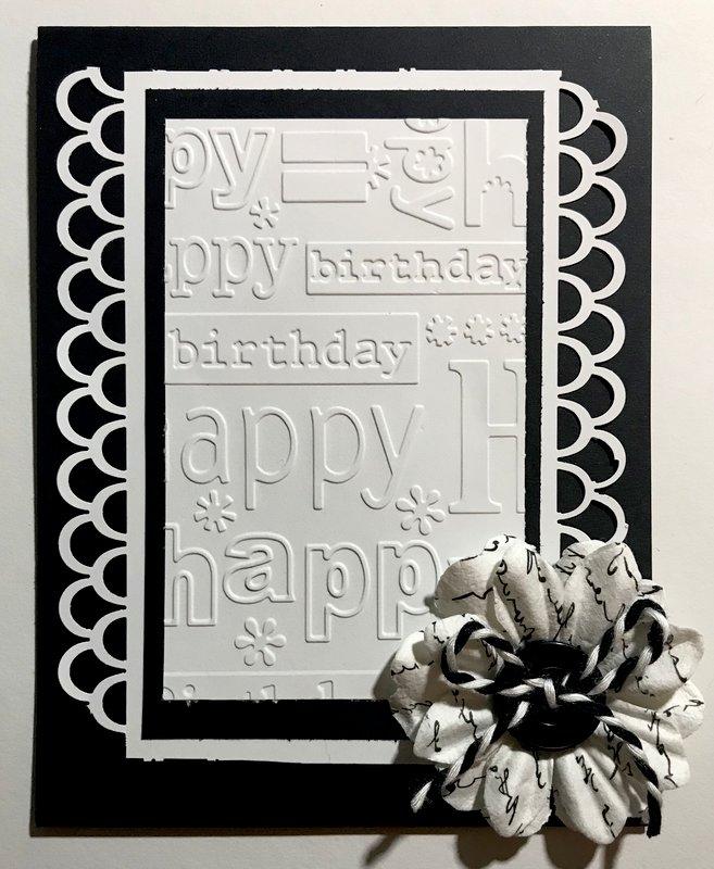 B&W birthday card