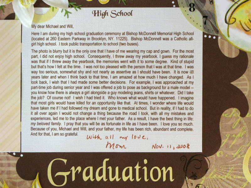 High School Graduation - hidden journaling