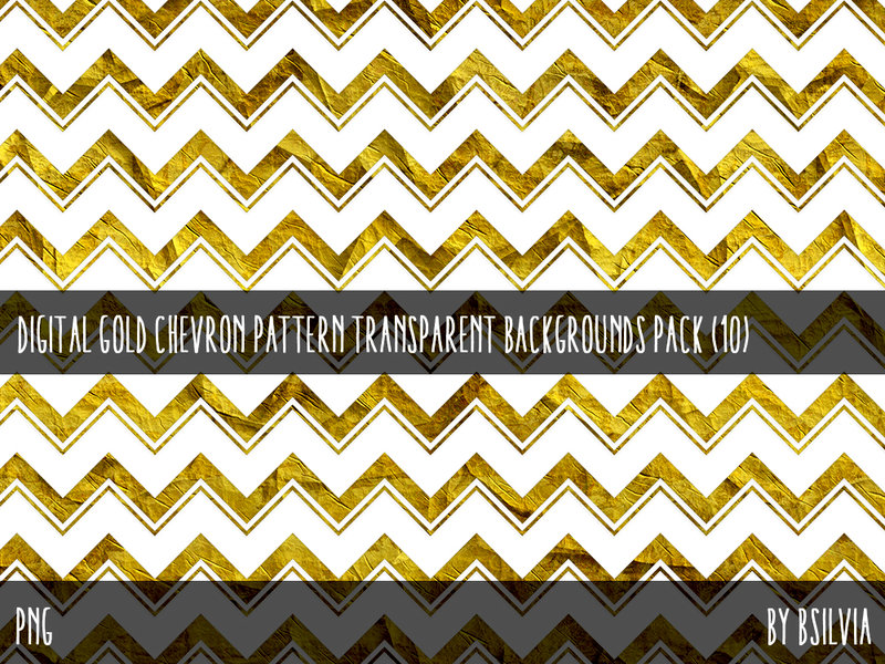 Digital Gold Chevron Overlays Pack (10)