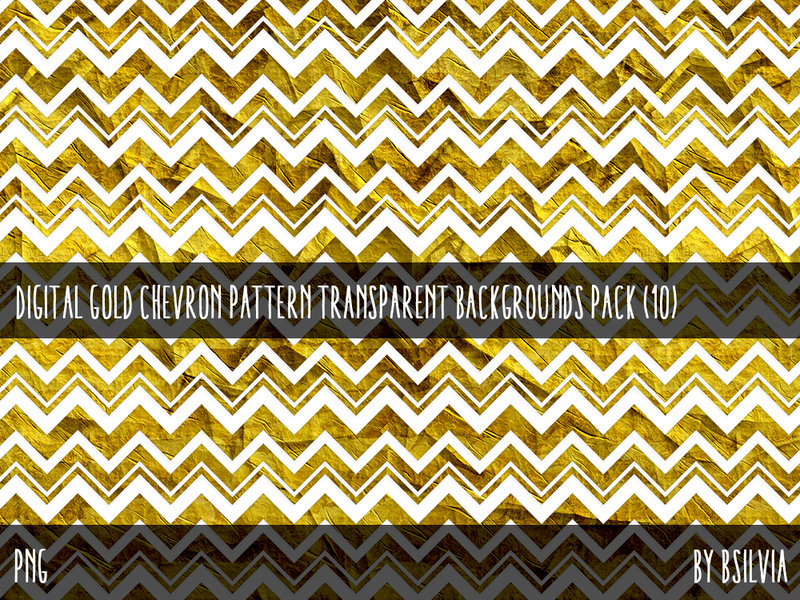 Digital Gold Chevron Overlays Pack (10)