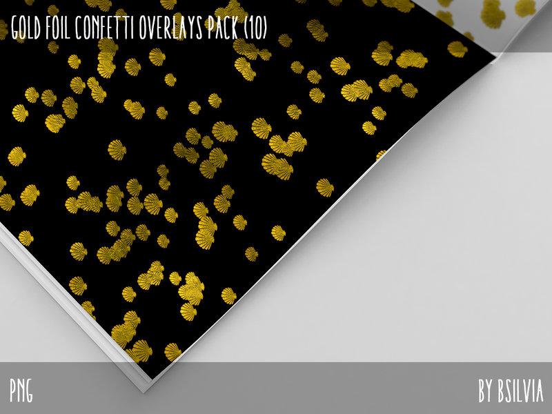 Gold Confetti Overlays