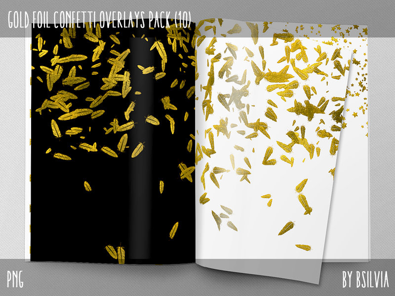 Gold Confetti Overlays