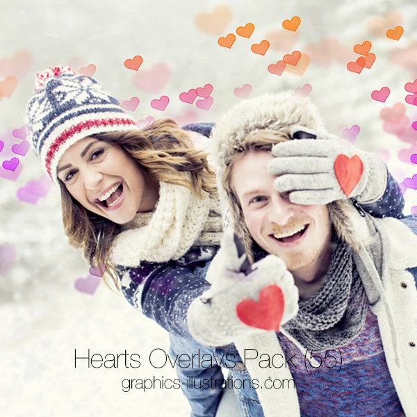 Hearts Overlays Pack