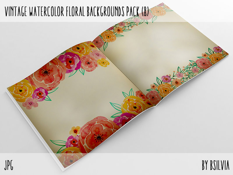 Vintage Watercolor Papers Pack