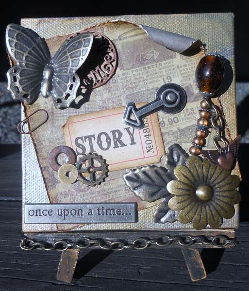 Steampunk Altered Canvas