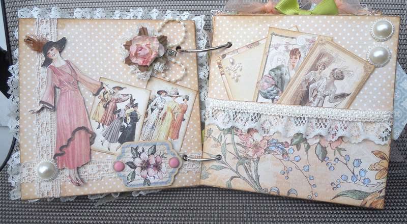 Mini Graphic 45 Ladies' Diary - pages 3 and 4