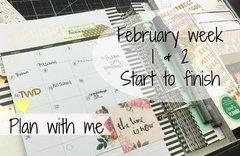 February week 1&2 memory planner. **video**