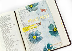 Bible Art journal page. **Video tutorial**