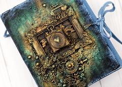 Denim art journal cover