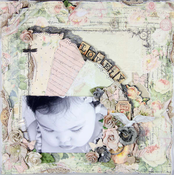 Lovely. The Piece by Piece. & Prima August BAP challenge.