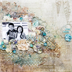 Smile. Mixed media layout