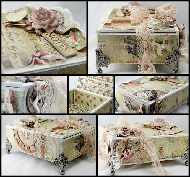 Altered cigar box. Prima Romance Novel.
